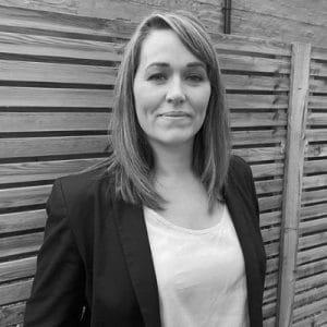 Parliamentary debate: Campaigner Hannah Deacon in a black and white photo
