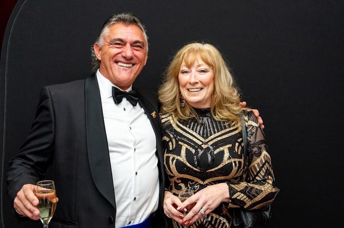 Gary Brennan pictured with wife Shirley