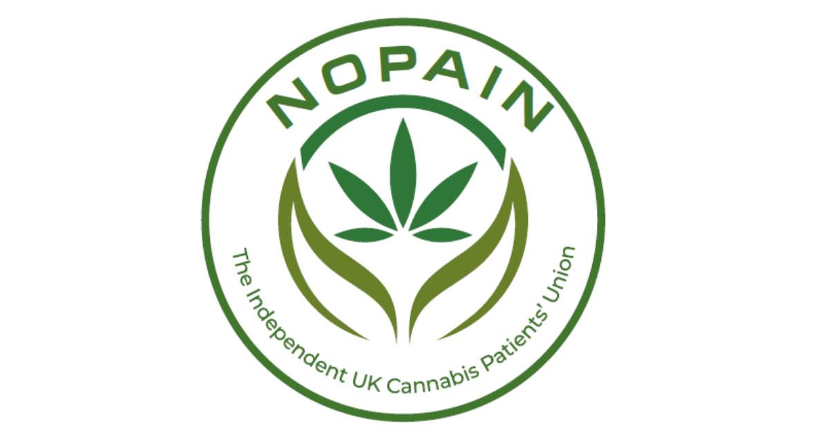 Patient network: the green and white logo of the patient network NOPAIN