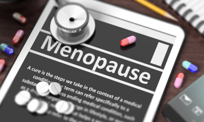 Richardson: An app with menopause information displayed across the screen has a doctor's stethoscope resting on it.