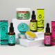 The Good Level: A collection of products from CBD company, the good level on a grey background